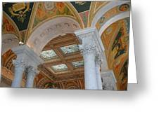 Great Hall Of The Library Of Congress Greeting Card