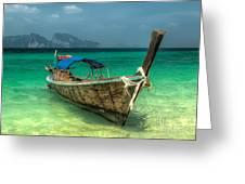Thai Boat  Greeting Card