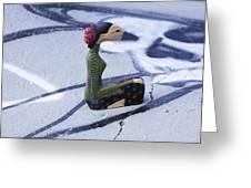 Thai Figurine 5 Greeting Card by William Patrick