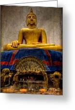 Thai Golden Buddha Greeting Card