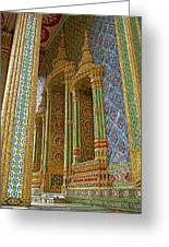 Thai-khmer Pagoda At Grand Palace Of Thailand In Bangkok Greeting Card