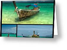 Thailand Longboats Greeting Card