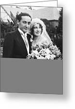 Thalberg And Shearer Wedding Greeting Card