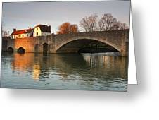 Thames In Abingdon Greeting Card