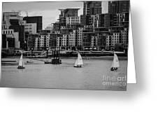 Thames Sailing Greeting Card