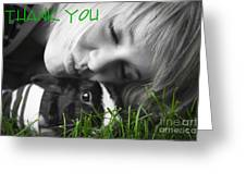 Thank You Bunny-card Greeting Card