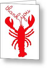 Thank You Lobster With Feelers Greeting Card