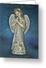 Thank You My Angel Greeting Card