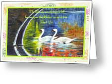 Thank You Sentiments-swans Greeting Card