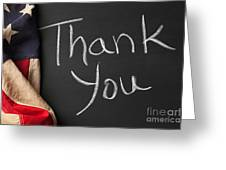 Thank You Sign On Chalkboard Greeting Card