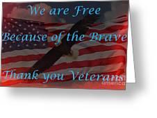 Thank You Veterans Greeting Card