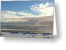 Icy Beach Greeting Card