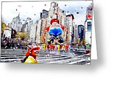Thanksgiving Parade Greeting Card