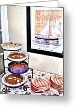 Thanksgiving Pies Greeting Card