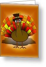 Thanksgiving Turkey Pilgrim Greeting Card