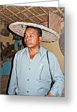 Tharu Chitwan National Park Naturalist In Tharu Village In Nepal  Greeting Card
