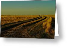 That Long Long Road Greeting Card