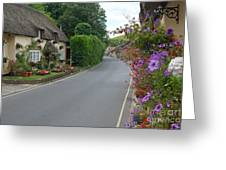 Thatch And Flowers Greeting Card