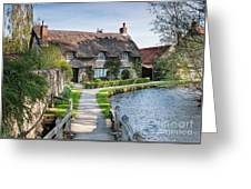Thatched Cottage Thornton Le Dale Greeting Card