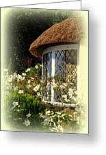 Thatched Cottage Window Greeting Card