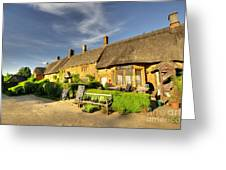 Thatched Cottages At Great Tew  Greeting Card