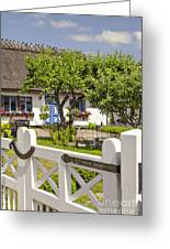 Thatched Roof Cottage Greeting Card