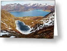 Thawing Spring Fjordland Vista Greeting Card