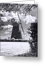 Thaxted Mill In Full Sail Greeting Card