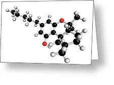 Thc Cannabis Drug Molecule Greeting Card