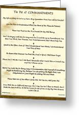 The 10 Commandments  For Pets  Antique Marble Greeting Card
