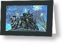 The 107th Infantry Memorial Sculpture Greeting Card