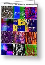 The 12 Tribes Greeting Card by Dov Lederberg