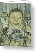 The 44th President And The Media Greeting Card