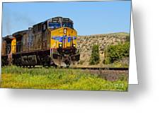 The 5789 Union Pacific Train Greeting Card