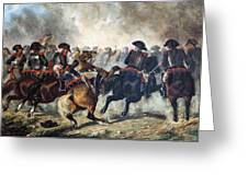 The 8th Napoleonic Cavalry Regiment Charging Into Battle  Greeting Card