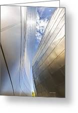 The Abstract Curves Of The Disney Concert Hall Greeting Card