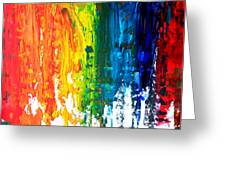 The Abstract Rainbow Beach Series I Greeting Card