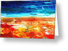 The Abstract Rainbow Beach Series II Greeting Card