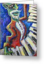 The Acid Jazz Jam Piano Greeting Card