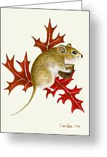 The Acorn Mouse Greeting Card