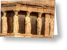 The Acropolis Caryatids Greeting Card by Deborah Smolinske