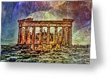 The Acropolis Of Athens Greeting Card