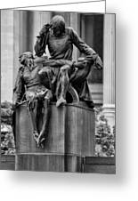 The Actor Statue Philadelphia Greeting Card
