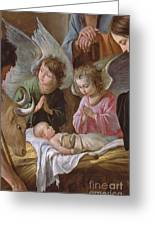 The Adoration Greeting Card by Le Nain