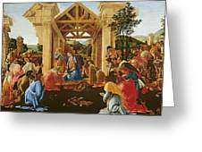 The Adoration Of The Magi Greeting Card