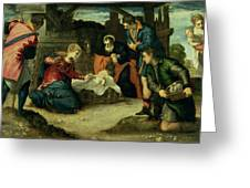 The Adoration Of The Shepherds, 1540s Greeting Card
