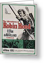The Adventures Of Robin Hood B Greeting Card