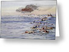The Aftermath Of The Lusitania Greeting Card