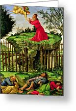 The Agony In The Garden, C.1500 Oil On Canvas Greeting Card