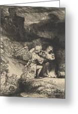 The Agony In The Garden Greeting Card by Rembrandt